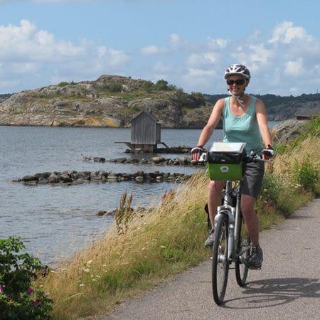 Radfahrerin auf der Kattegatroute