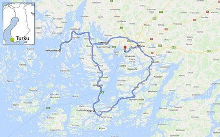 Karta Finska skärgården på cykel
