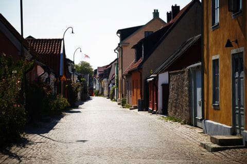 Cobblestone in Visby's beautiful old town