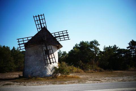 Windmühle in der Nähe von Ljugarn