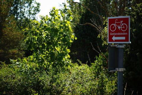Bike path signposting Gotlandsleden