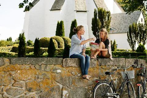 Cykelpaus längs vägen