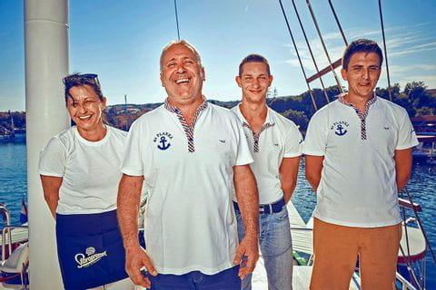 Crew på M/S Planka