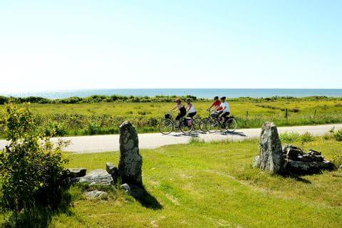 Cykelgrupp längs Kattegattleden
