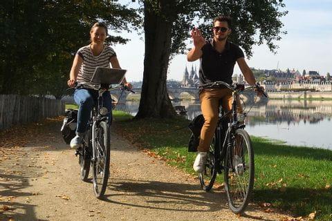 Cykling längs Loire floden