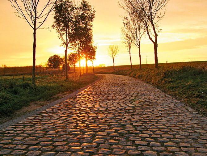 Solnedgång i Flandern